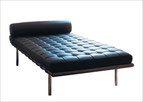 """Barcelona Daybed (77"""") by Mies van der Rohe"""