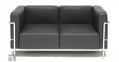 """Le Corbusier Grande Confort 58"""" Loveseat LC3B2"""