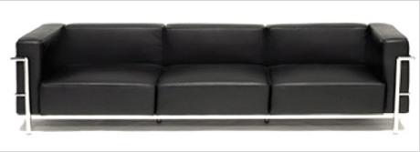 """Le Corbusier Extra Grande Confort 93"""" Sofa"""