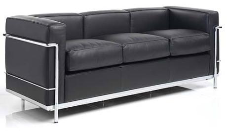 """Le Corbusier Petit Confort 71"""" Sofa LC2A3"""
