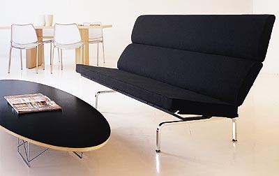 Mid Century Style Elliptical Coffee Table