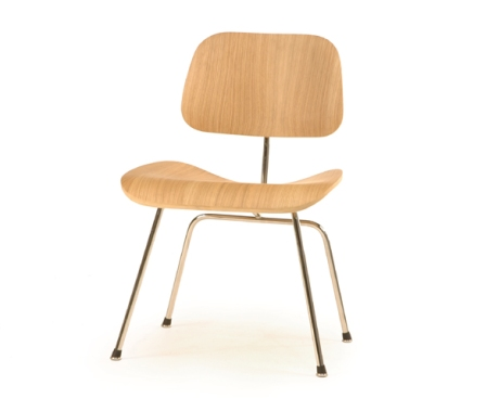 Plywood Dining Chair with Metal Legs