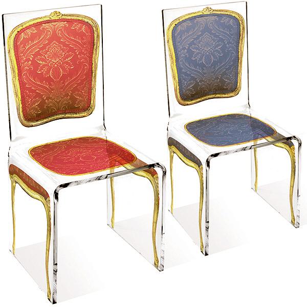 Aitali Louis Chaise Acrylic Chair