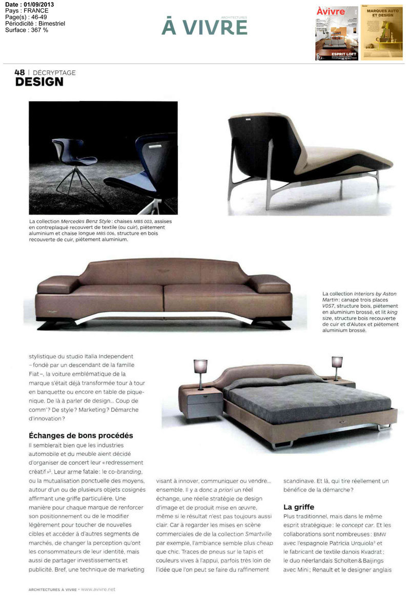 Mercedes Benz Furniture | Gibraltar Furniture Design Notes - Modern ...