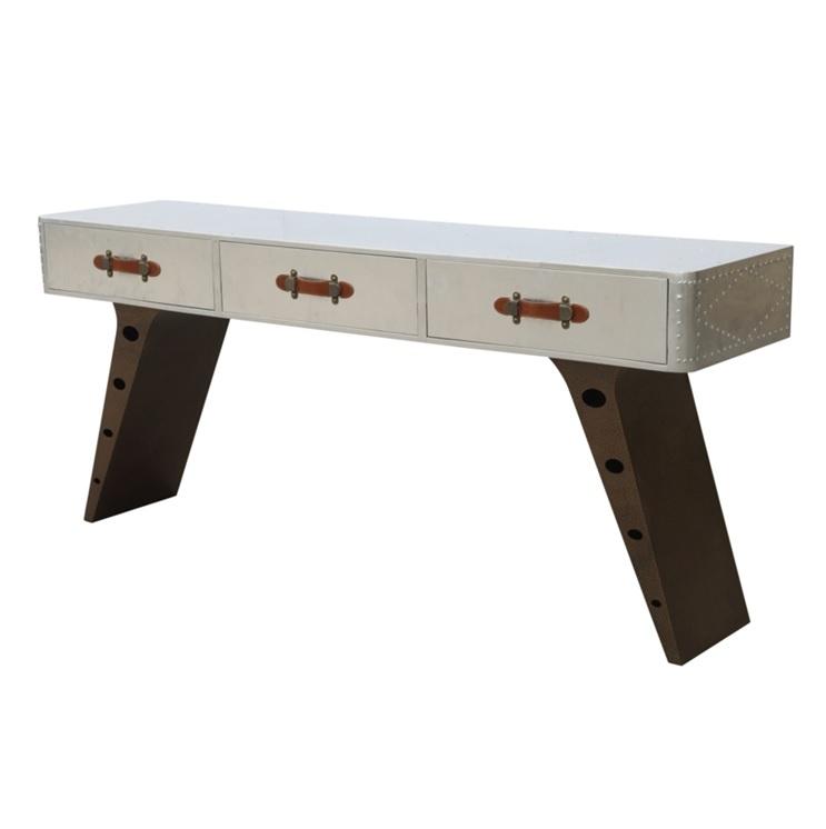 aluminum desk genuine leather handles 5